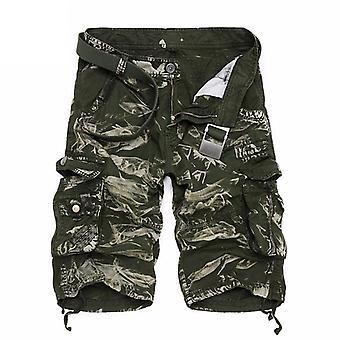 Sommer Menn's Camo Cargo Shorts, Militær Kamuflasje Mannlige Shorts