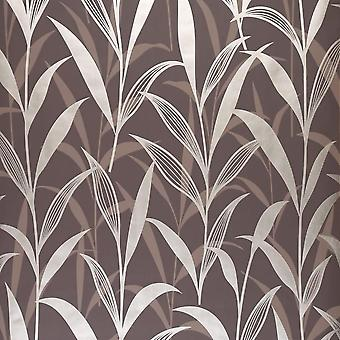 Brown and gold leaf design wallpaper 30-024