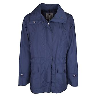 Eskey Blue Mid Length Anorak Trench Coat With Drawstring
