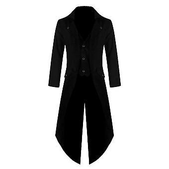 الرجال خمر دعوى سترة طويلة خمر Steampunk الرجعية معطف فستان