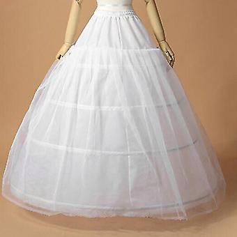 Frauen Braut Maxi-Petticoat, Kordelzug Bund, Mehrschichtige, Ballkleid,