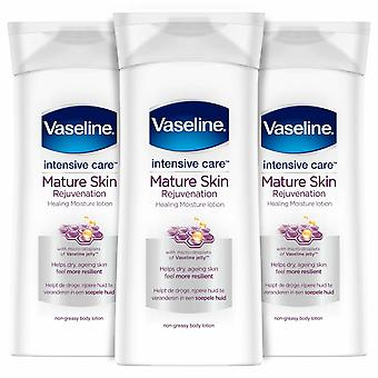 Vaseline Intensive Care Body Lotion, Mature Skin, 400ml - Buy 3