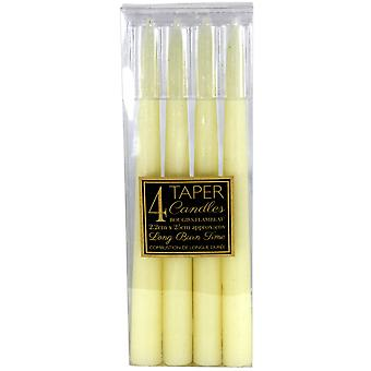 Set Of 4 Ivory Taper Candles