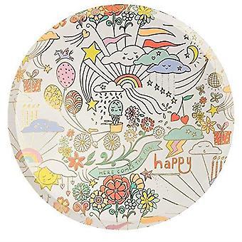 Meri Meri Happy Doodle Grandes assiettes de fête en papier x 8