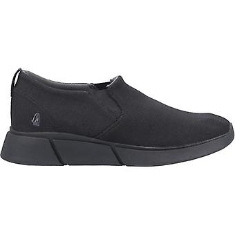 Hush Puppies Cooper Mens Tricoté Slip On Trainers Noir
