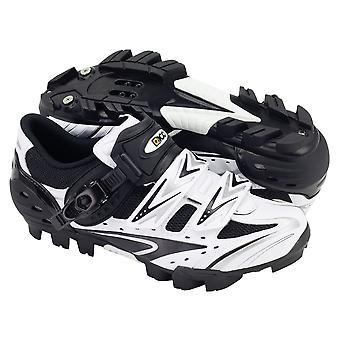 Eigo Vega MTB Shoe Nylon Sole Single Ratchet With Double Velcro Strap - White