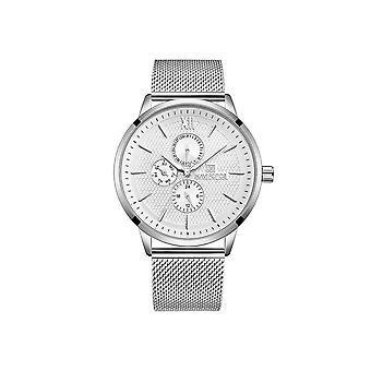 Naviforce Mens Homage Quartz Watch White Silver Smart Watches Date Designer Gift
