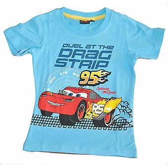 T-shirt Cars, Drag Strip, Ljusblå 7 år