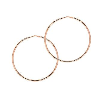 The Hoop Station Chica Latina Rose Gold Plated 55 Mm Hoop Earrings H168R