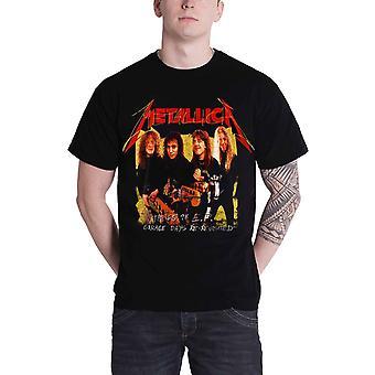 Metallica T camisa garaje días foto amarillo Band Logo nuevo oficial para hombre negro
