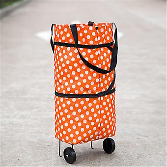 B-life Shopping Bag With Rolling Wheels Reusable Foldable Grocery Cart