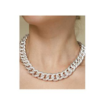 Silver Chunky Cuban Chain Necklace