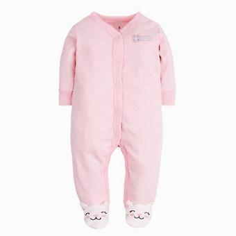 Детские Ромпер Длинные рукава 100% Хлопок Мультфильм Печатные новорожденные пижамы