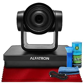 Alfatron alf-20x-sdic 1080p ptz camera, 20x zoom lens with 6-foot hdmi cable, cleaning kit and more in ready-to-record or stream accessories bundle