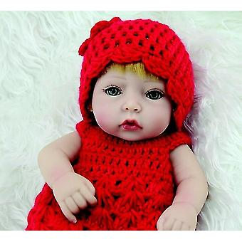 Sweater Set In Red For 11 Inch Newborn Baby Girl Dolls