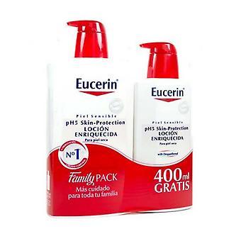Eucerin Locion Enriquecida 1L + 1L protege la piel frente de la irritación