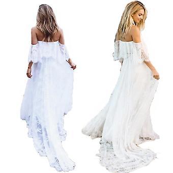 Prop Těhotenské šaty, krajkové maxi šaty oblečení