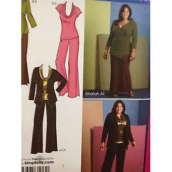 דפוס תפירה פשטות 1945 נשים / מתגעגע חצאית מכנסיים בגודל העליון 20W-28W UC