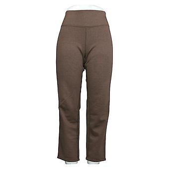 Kvinner Med Kontroll Kvinner's Petite Bukser Renee's Slim Leg Brown A390043
