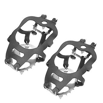 18 Teeth Fishing Ice Snow Shoe Spiked Grips Cleats Crampons Cover