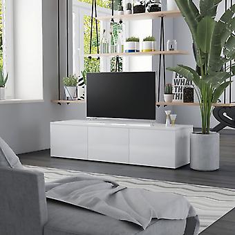 vidaXL TV-Schrank Hochglanz-Weiß 120 x 34 x 30 cm Spanplatte