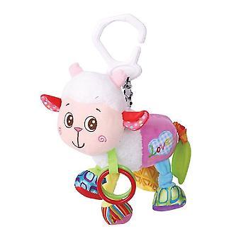 Lorelli baby rammelaar schapen, gevulde speelgoed, knuffel, rammelaar, Griffin met C-Ring