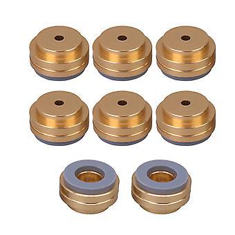 8sztuk Złoty głośnik Izolacja Pad Alloy Wzmacniacz Podkładki 19.5x11mm
