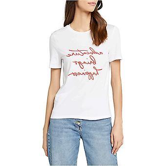 find. Women's Adventure Brings Happiness Slogan T-Shirt, (White), XXL (US 16)
