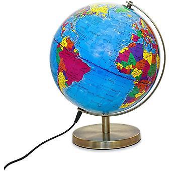FengChun Magellan Albion Leuchtglobus politisches Kartenbild LED-Beleuchtung 25 cm Globus mit