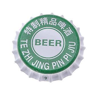 Lopullinen myynti - painettu vihreä valkoinen kruunu pullo korkit käsityö leikekirja ei vuoraukset (50)