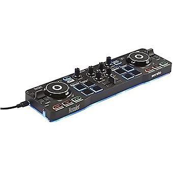 FengChun DJControl Starlight (2-Deck DJ Controller, 8 Pads, integr. Soundkarte, Beleuchtung, Serato