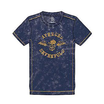 Kostanut seitsenkertaisen T-paitabändin logon uusi virallinen Miesten laivaston sininen lumipesu