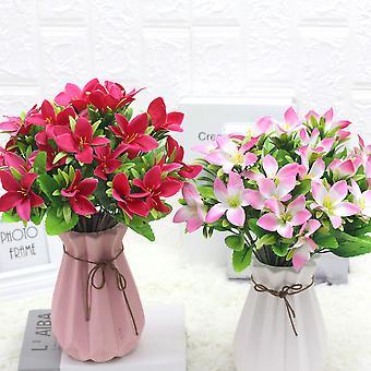 5pcs flores artificiales boda apoyos flores artificiales flores secas falso regalo de flores para las mujeres