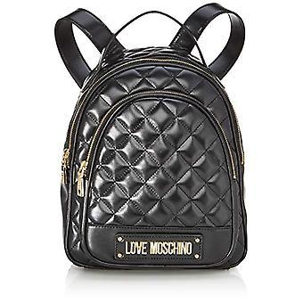Love Moschino Bag Quilted Nappa Pu, Women's Backpack, Black (Black), 29x30x12 cm (W x H x L)