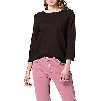 Tom Tailor Struktur T-Shirt, 14482-Deep Black, XL Donna