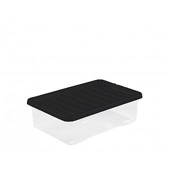 Wham Storage Pallet Deal X 200 - 32 litros de cristal debajo de la cama cajas de almacenamiento de plástico con tapas