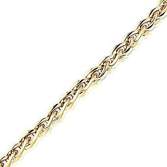 مجوهرات لندن السيدات 9ct الذهب الأصفر 7mm تخرج Spiga وصلة قلادة سوار 7.5 & نقلا عن;