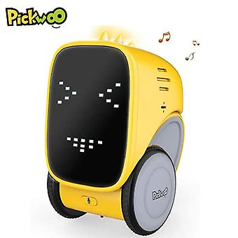 Voice Gesture control Smart Interactive Educational Induction Singing Dancing Robot|RC Robot(Yellow)