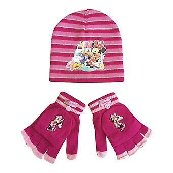 Set di cappelli e guanti invernali a tema personaggio per bambini