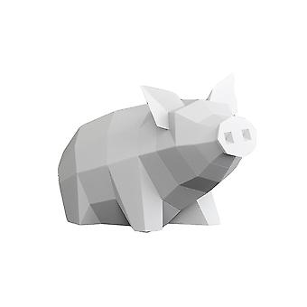 YANGFAN 3D ورقة الحيوانات Papercraft يجلس خنزير اوريغامي نموذج DIY لعبة