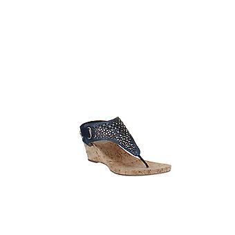White Mountain   Arnette Embellished Wedge Sandals