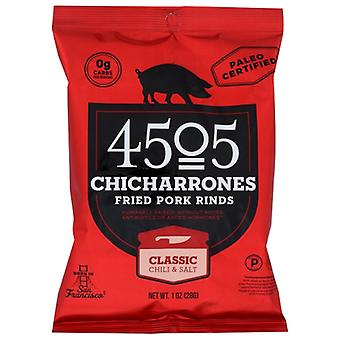 4505 Vlees Chicharrones Chili Zout, Doos van 12 X 1 Oz