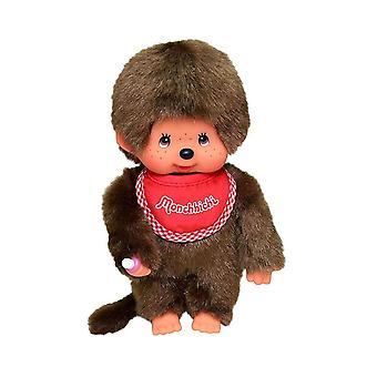 Monchhichi Boy with Red Bib Plush Toy