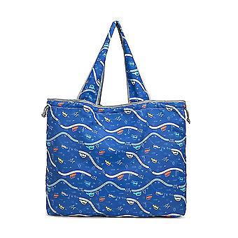 Shopping Bag Eco-friendly Drawstring Bag Foldable Portable Supermarket Grocery Bag Large Capacity