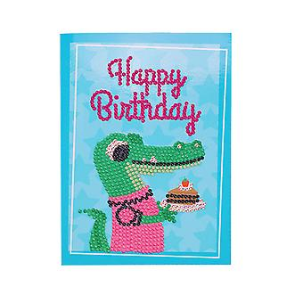 13x18cm Diy Greeting Diamond Painting Blessing For Birthday Party (crocodile)