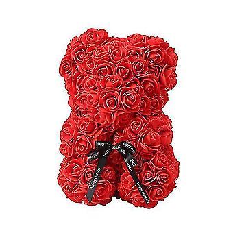 Valentine's day gift 25 cm rose bear birthday gift£? memory day gift teddy bear(Red)