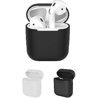 Capas protetoras compatíveis com Apple AirPods Case 2-Pack (Preto e Transparente)