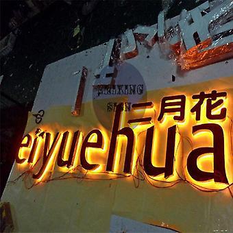 Outlet Metal Backlit Signage/woorden