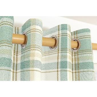 Mcalister textiles heritage tartan check duck egg blue curtains
