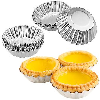20/10/5pcs Nonstick Ripple Egg Tart Mold Blomst Form Gjenbrukbar Cupcake og Muffin Baking Cup Tartlets Panner